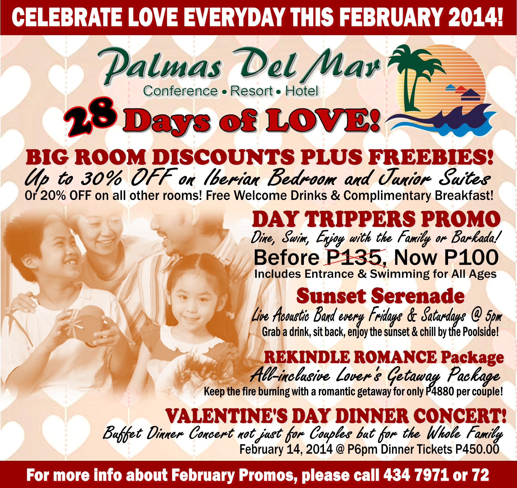 FEBRUARY EVENTS AND PROMOS
